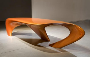 Table Dune (2007) © Zaha Hadid. Courtesy David Gill galleries.